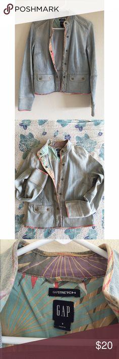 Gap Denim Blazer Gap Denim Stretch Blazer. Gently worn. In great condition. Size Small. Gap Jackets & Coats Jean Jackets