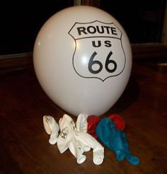 Set of Twenty Route 66 12 inch Latex Balloons Specialty Item Party Decorations