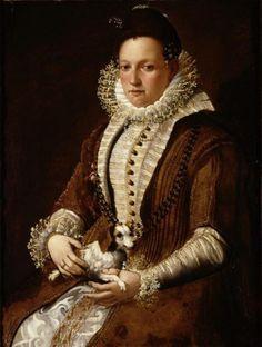 Lavinia Fontana - Portrait of a lady with a dog