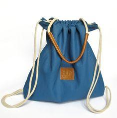 Multiway backpack purse Blue tote bag rucksack backpack by JUDtlv
