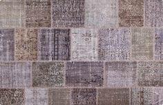 Vintage Patchwork Teppich - mozaiik Unikat Nr. 89TP