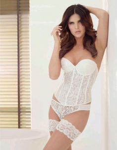 ea471e829 Exquisite ivory lace corsage bridal basque with plunge shaping giving a  moderate push up effect and. Wedding Nites