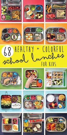 68 Healthy + Colorful School Lunches for Kids / From Baby Foodie!
