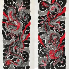 Traditional Japanese Tattoo Sleeve, Traditional Tattoo Art, Japanese Tattoo Designs, Japanese Tattoo Art, Japanese Sleeve Tattoos, Red Tattoos, Body Art Tattoos, Tattoos For Guys, Arabic Tattoos