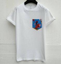 Spider Man Pocket Tee White Pocket T-Shirt Men's T