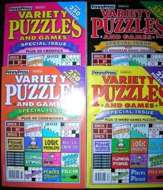 dell variety crossword puzzle books    VARIETY PUZZLES and GAMES Logic Fill In Word Seek PENNY PRESS 2011