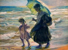 """""""Study 10"""" by José Mongrell Torrent (1870-1937, Spain)"""