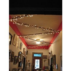 dorm room lights. cute idea