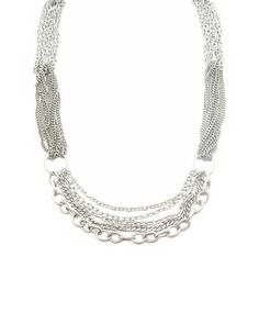 Silver Multi Chain Necklace - JewelMint