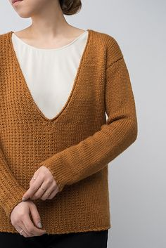 Shibui Knits FW15 | Inscribe by Shellie Anderson, knit with Shibui Maai and Shibui Staccato held together throughout.