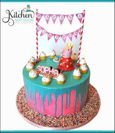 Peppa Pig Drip Cake Awesome Cakes Pinterest Drip Cakes Cake - Owl percy pig birthday cake