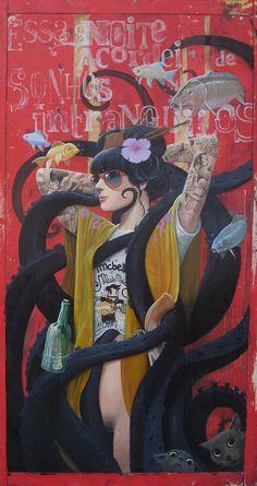 Derbyblue (Shiko) is an artist from João Pessoa, Paraíba, Brazil.