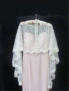 Lace wedding cape.