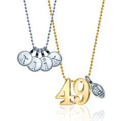 We're excited for the 49th #Superbowl and #hypedforhalftime featuring #KatyPerry and #LennyKravitz! We've got our lucky Little Numbers, Mini Football, and Mini Letters on for the game 'cause that's #howwewoo! Who will you be rooting for? #alexwoo #littleicons #putaminionit #lovegold #futureheirlooms #superbowl49 #SB49