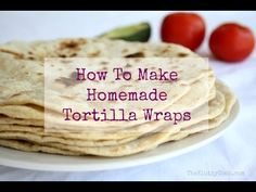 Homemade Tortilla Wraps are simple to make and have real flavour. Watch how to make them here with The Klutzy Cook.and grab the recipe too. How To Make Tortillas, Homemade Flour Tortillas, Tortilla Wraps, Tortilla Recipes, Homemade Wraps, How To Make Homemade, Low Calorie Tortilla, Mexican Food Recipes, Ethnic Recipes