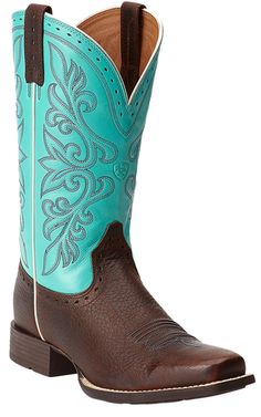 Ariat® Rundown Brown Oiled Rowdy with Turquoise Top Punchy Square Toe Cowboy Boots My LOVE bought these for me today! thanks baby KBM Country Boots, Western Boots, Cowboy Boots, Head Over Boots, Westerns, Square Toe Boots, Cute Boots, Dress With Boots, Rain Boots