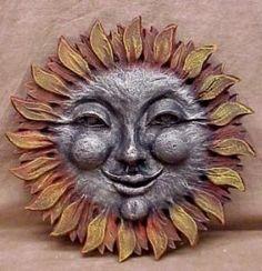 Smiling Sun Wall Decor Sculpture