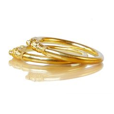 24 KT GOLD FORMING BANGLE 2PC BANGLE SET