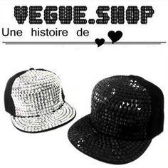 Unisex baseball cap ladygaga Punk square hiphop hip-hop baseball cap flat brim  hat spike hat snapback hats 6fd9e2d0aa21