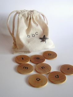 Wood Toy Lower Case Alphabet Game by applenamos on Etsy