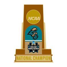 Coastal Carolina Chanticleers WinCraft 2016 NCAA Men's Baseball College World Series National Champions Insert Trophy Pin