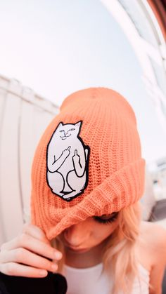 RIPNDIP Flame Lord Nermal Ribbed Beanie cuz Nermal will keep you warm af. This ribbed beanie has an embroidered patch of Nermal on the front and a cuffed hem. Fashion Hats, Fashion Outfits, Embroidered Patch, Snapback Hats, Hair Pieces, Juicy Couture, Betsey Johnson, Dip, Patches