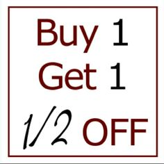 Buy 1 Get 1 50% Off Buy one item and get one 50%Off of equal or lesser value! Items available on Merc for discounted price. Leave a message in the comments section if Merc is preferred or for me to create a customized bundle. Other