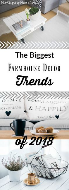 These are the biggest farmhouse #decor trends in 2018, this is awesome! // Mom Shopping Network