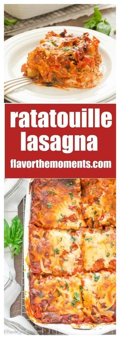 ratatouille lasagna is lasagna layered with a ratatouille inspired pasta sauce