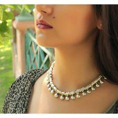 Gypsy Jewelry-Gypsy Necklace-Boho Accessory-Bohemian Tribal Necklace-Gypsy Necklace-Ethnic Necklace-African Necklace-Boho Women-Silver Statement Necklace Choker Jewelry - Trinketmart
