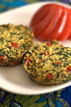 Mini Tofu Frittatas (super full of protein, but vegan and gluten free) - Would be good in the morning on a toasted english muffin with some cheese