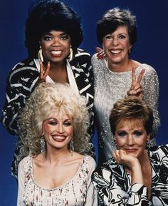 There are 3 people in this pic that I would like to meet. You can guess who they are. (Oprah Winfrey, Carol Burnett, Julie Andrews and Dolly Parton in Dolly Parton Tattoos, Dolly Parton Quotes, Dolly Parton Imagination Library, Dolly Parton Costume, Dolly Parton Pictures, Carol Burnett, Julie Andrews, Oprah Winfrey, Famous Faces