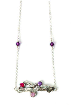 Twig pendant - Making Jewellery Magazine - Crafts Institute  DIY Silver Clay Pendant and earrings