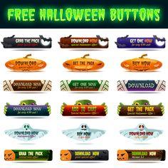 free Halloween Buttons