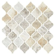 Claros Silver H/F Arabesque Marble Wall and Floor Tile