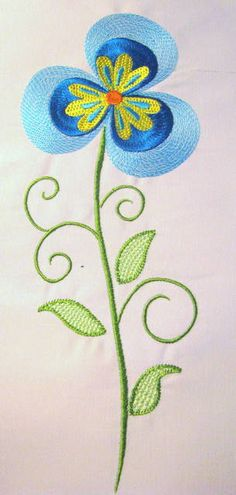 Vintage Flower 08 Filled Machine Embroidery Design  by KCDezigns, $3.50