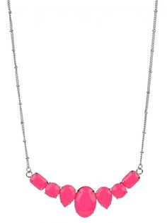 Long Chain Crystal Bib Necklace from GLAMboutique.com
