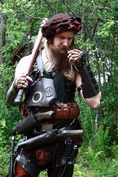 by Krigshjartan on DeviantArt Medieval Warhammer, Medieval Armor, Warhammer Fantasy, War Band, Larp Armor, Landsknecht, Fantasy Inspiration, Magick, Knights
