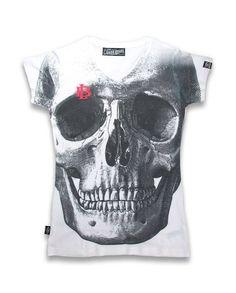 Liquor Brand Damen SKULL T-Shirts.Oldschool,Tattoo,Pin up,Custom,Biker Style