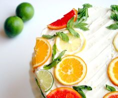 Recipes : Citrus Cake with Lemon Curd Filling and Orange Lemon Icing (a. Stella Cake)Citrus Cake with Lemon Curd Filling and Orange Lemon Icing (a. Pavlova, Cupcakes, Cupcake Cakes, Cheesecakes, Lemond Curd, Citrus Cake, Lemon Icing, Lemon Buttercream, Lemon Curd