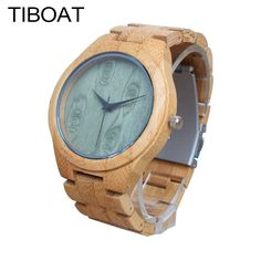 21.99$  Buy now - http://ali2sa.shopchina.info/go.php?t=32813091938 - TIBOAT M14Z Green Wood Dial Watch With Full Bamboo Wooden Watch Men's Top Brand Luxury Mens Watches With Gift Box montre homme 21.99$ #buyonline
