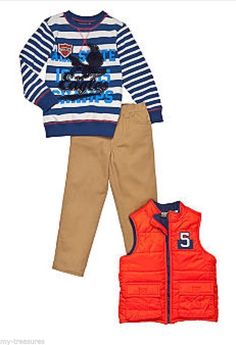 New CHOICE Nannette 3-Piece Camo Vest/Flight Jacket/Peacoat Set Boys 2T 4 5 7