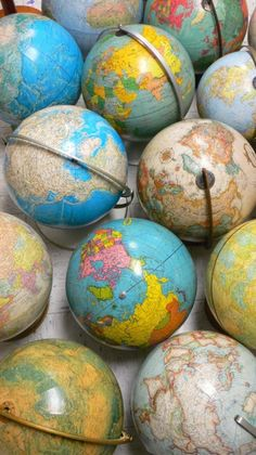 Where did all the old globes go to die? So outdated, yet I find them beautiful & as mysterious as when I was in elementary school.