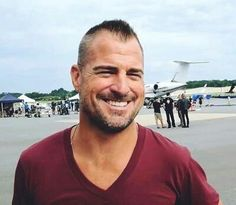 George Eads on set of MacGyver