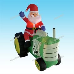 $105.90-$105.90 5 Foot Christmas Inflatable Santa Claus Driving Tractor Blow up Yard Decoration - BLACK FRIDAY SPECIAL! Please Check Out Our Other BZBGOODS Halloween and Christmas Decorations! Get Them before They are Out of Stock for the Holiday! This is the best gift or decor to take family holiday photos with. This Inflatable Santa Claus is a must-have to complete your Christmas. With self-in ...