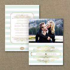 Stripes and Shine - Photo Save the Date Card     |  40% OFF  |  http://mediaplus.carlsoncraft.com/Wedding/Save-the-Dates/WA-WA32948FC-Stripes-and-Shine--Photo-Save-the-Date-Card.pro