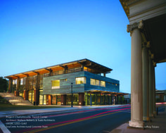 LEED Certified transit center using SoyCrete Decorative Concrete Stain.