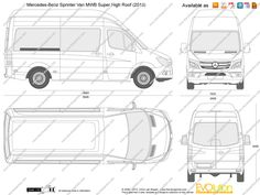 Mercedes sprinter signwriters drawings #4