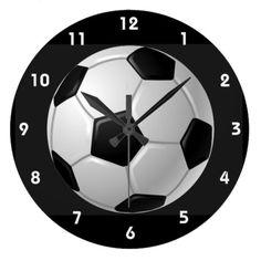 SOCCER Vinyl Wall Clock Vintage Record Sports League Ball Goal FIFA Football