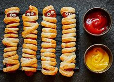 These sausages are great for a Halloween party; even better, they can be eaten hot or cold